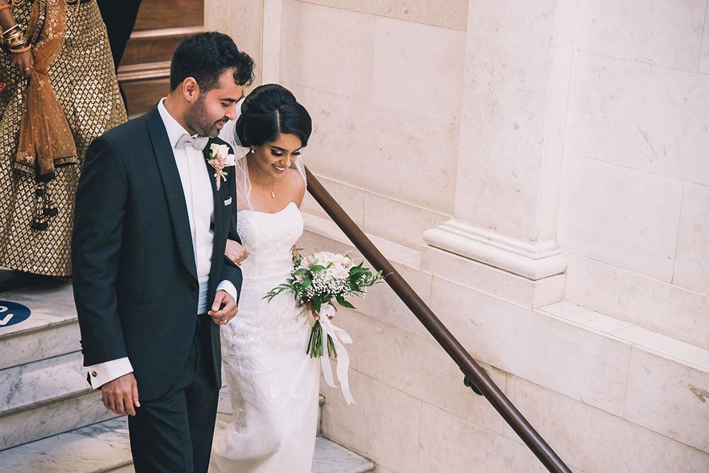 bride and groom marylebone town hall